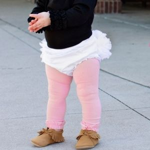 NWT Ruffle Butts Pink Footless Leggings